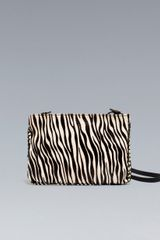 Zara Zebra Clutch with Chain in Animal (two-tone) - Lyst