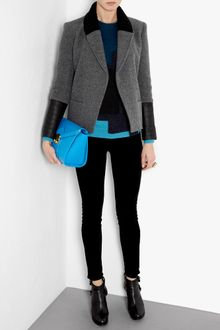 Theory Ponette Quilted Leather Cuffed Jacket - Lyst