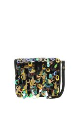 Asos Loop Sequin Clutch in Black (multi) - Lyst