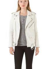 Blk Dnm Motorcycle Leather Jacket in White (smoke) - Lyst