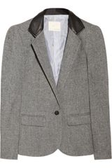 Boy by Band Of Outsiders Leather collar Woolblend Blazer - Lyst