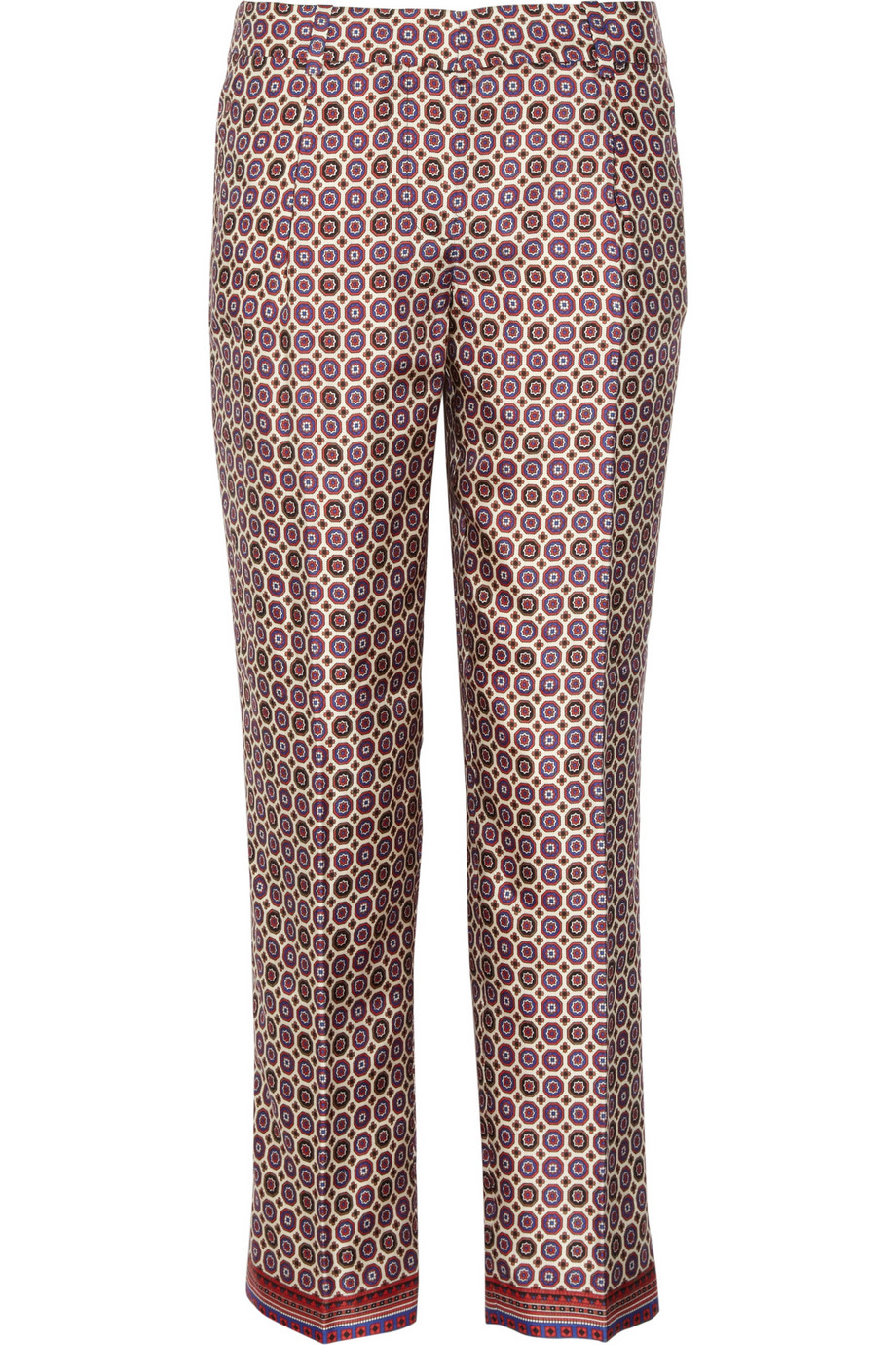 J.crew Café Printed Silk-twill Capri Pants in Multicolor | Lyst