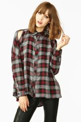 Nasty Gal Misfit Plaid Shirt