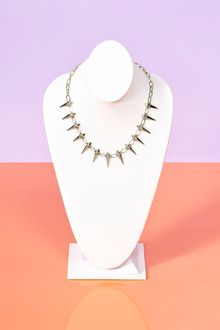 Nasty Gal Spiked Chain Necklace - Lyst
