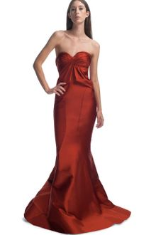 Zac Posen Cayenne Sweetheart Neckline Evening Gown - Lyst