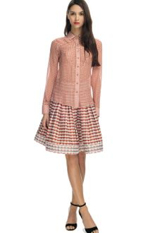 Z Spoke by Zac Posen Mini Polka Dot Chiffon Blouse - Lyst