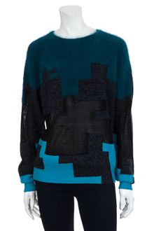 3.1 Phillip Lim Mohair Digital Print Sweater - Lyst