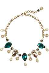 Dolce & Gabbana Goldplated Oversized Swarovski Crystal Necklace - Lyst