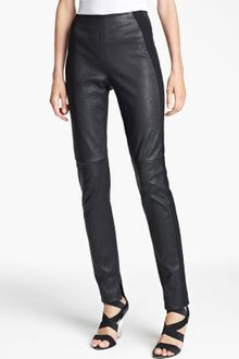 Donna Karan New York Collection Skinny Stretch Leather Pants - Lyst