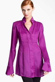 Donna Karan New York Collection Organza Shirt - Lyst