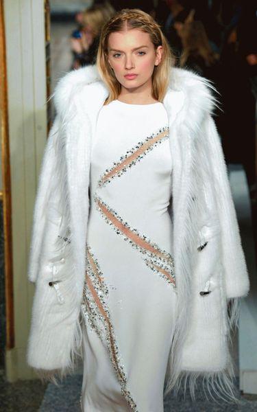Emilio Pucci Mink Fur Coat In White Black Lyst