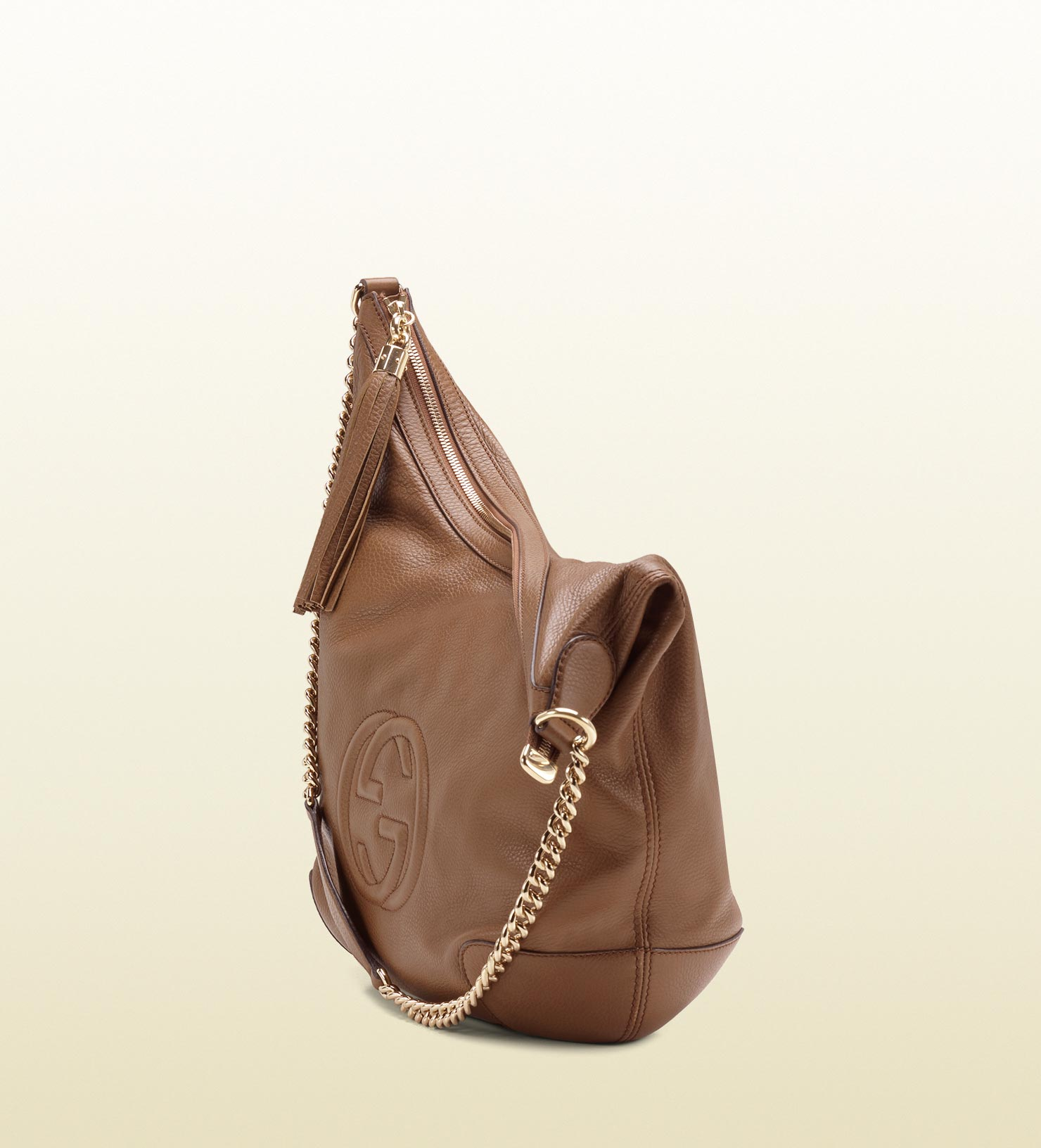 740916bbbbf Lyst - Gucci Soho Maple Brown Leather Shoulder Bag with Chain Strap in Brown