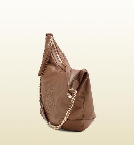 Soho Leather Shoulder Bag Maple Brown 86