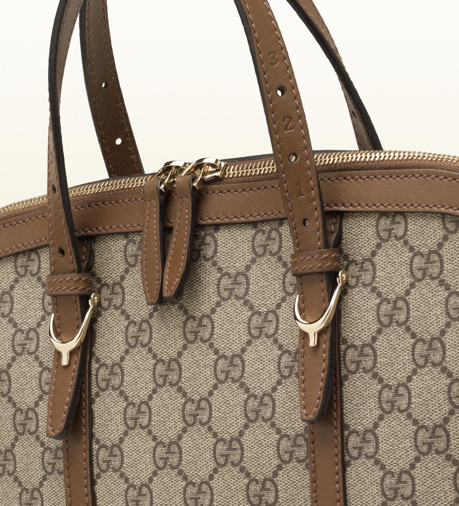7e09b83098c6 Gucci Gucci Nice Gg Supreme Canvas Top Handle Bag in Brown - Lyst