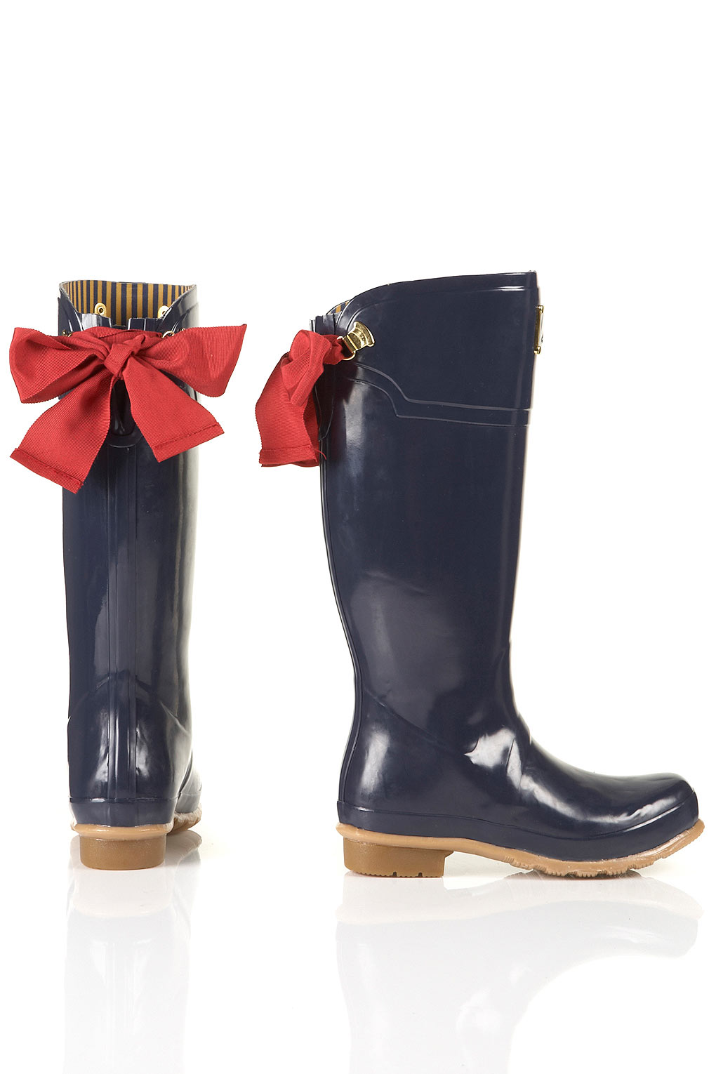Joules Joules Evedon Ribbon Wellies In Blue Lyst