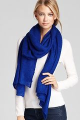 Lauren By Ralph Lauren Mohair Thermal Scarf in Blue (light grey heather) - Lyst