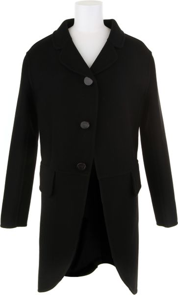 Marc Jacobs Black Coat in Virgin Wool and Polyamide in Black