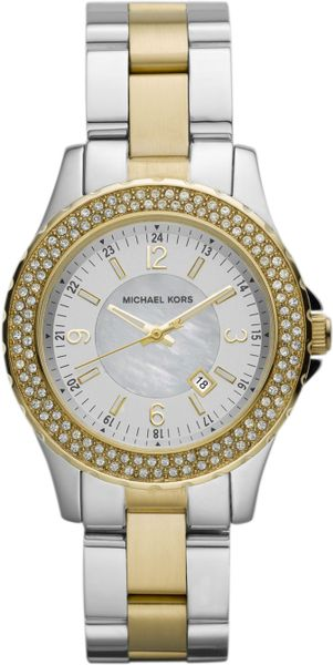 Michael Kors Mini-size Madison Three-hand Glitz Watch, Golden/silver-color in Gold (multi)