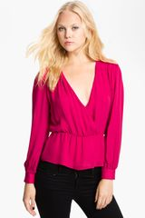 Parker Quilted Shoulder Blouse - Lyst