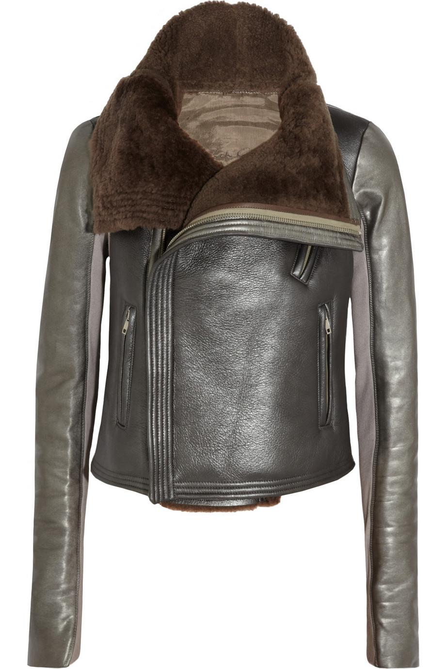 Leather Shearling Jacket - Jacket