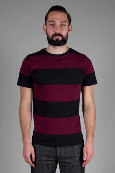 Saturdays Surf Nyc Randall Block Stripe T-Shirt in Purple for Men (burgundy) - Lyst