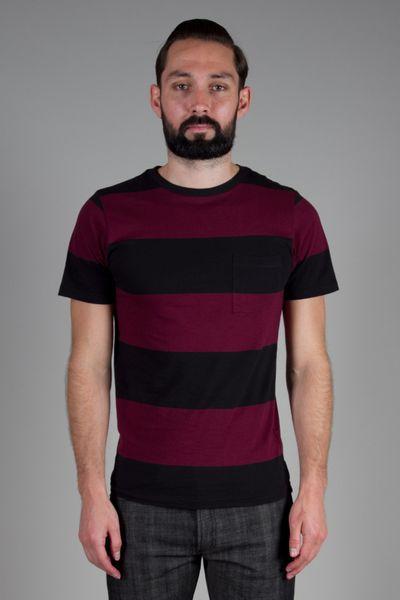 Saturdays Surf Nyc Randall Block Stripe T-Shirt in Purple for Men (burgundy)