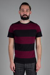 Saturdays Surf Nyc Randall Block Stripe TShirt in Purple for Men (burgundy) - Lyst