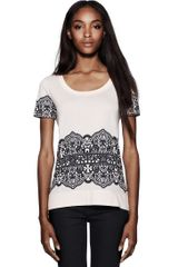 Tory Burch Wendy Graphic Tee - Lyst