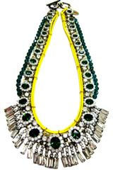Venna Fw Neon Rope and Crystal Necklace