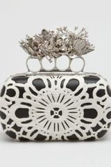 Alexander McQueen Lasercut Calf Hair Knuckleduster Box Clutch Bag - Lyst