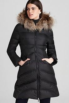 Dawn Levy Cloe Mid Down Coat with Lacing Detail - Lyst