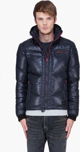 Diesel Black Padded Hooded Weroxim Jacket in Black for Men