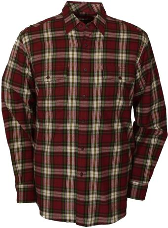 Double Two Long Sleeve Brushed Cotton Casual Shirt - Lyst