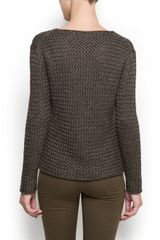 Mango Open Knit Jumper in Beige (cream) - Lyst