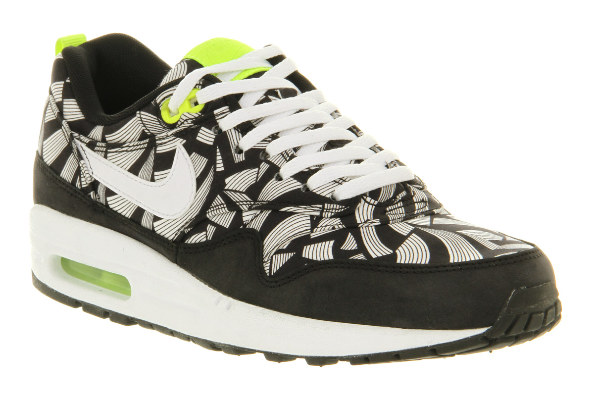 Uk Women's Nike Air Max 1 Mid Sneakerboot BlackVoltAnthraciteMetallic Clearance Sale On Promotion