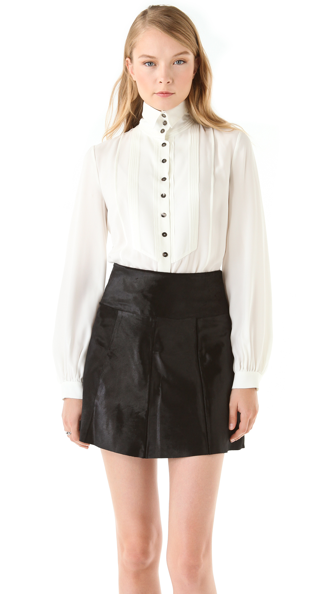 Women S White Collared Shirts Male Models Picture