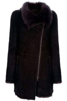 V.sp Shearling Coat - Lyst