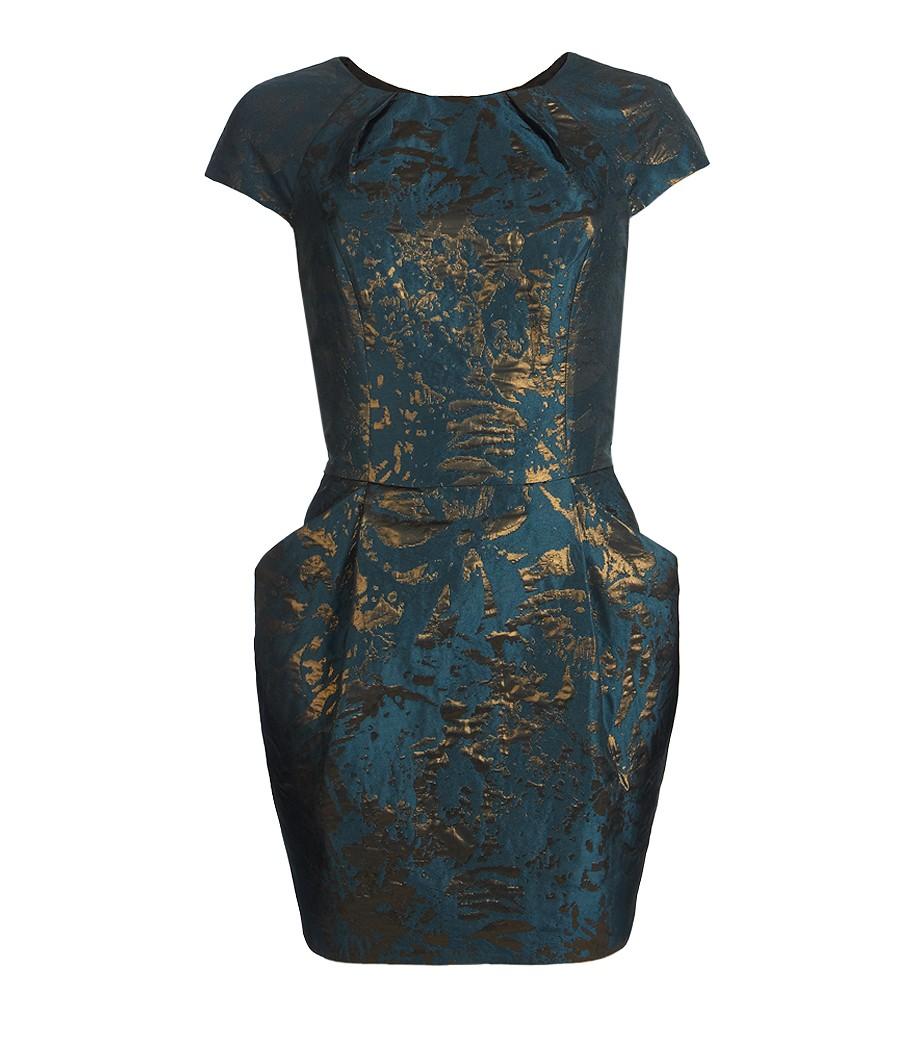 Allsaints Opulence Dress In Blue