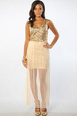 Aryn K. Sequined Lace Dress - Lyst