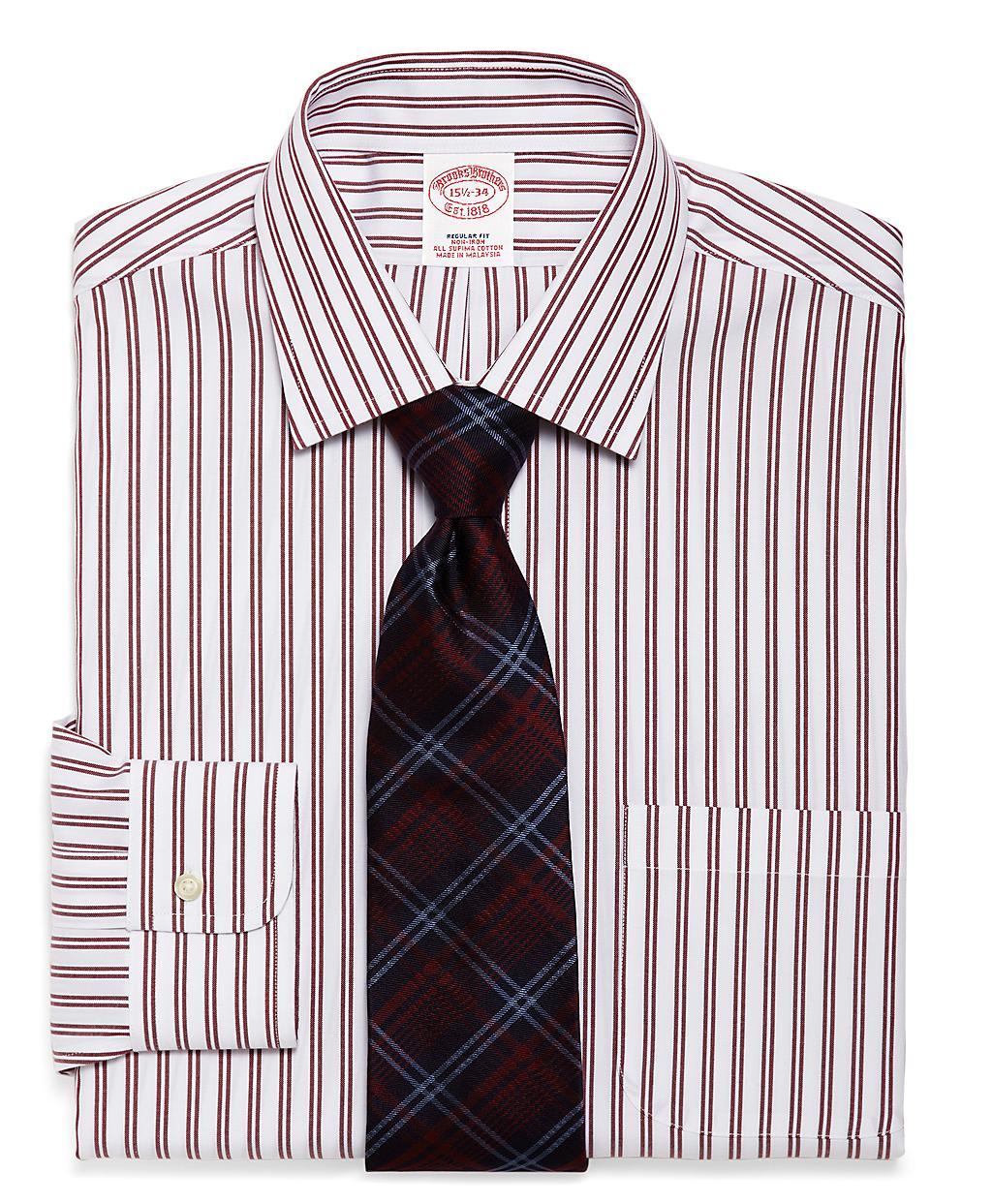 Brooks brothers supima cotton noniron regular fit twin for Supima cotton dress shirts