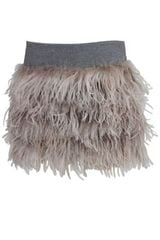 Brunello Cucinelli Feather Mini Skirt