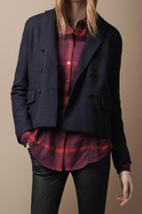 Burberry Brit Cropped Wool Jacket - Lyst