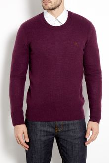 Burberry Brit Juniper Purple Cashmere Crew Knit - Lyst