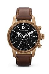 Burberry Brown Leather Strap Watch 42mm - Lyst