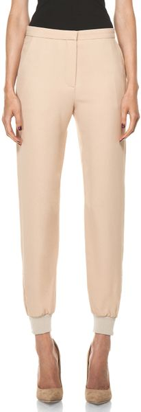 Chloé Jogging Pants in Beige (camel) - Lyst