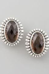 Lagos Venus Fluted Earrings Smoky Topaz - Lyst