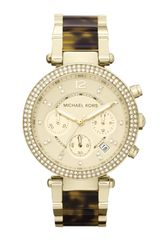 Michael Kors Golden Parker Glitz Watch - Lyst