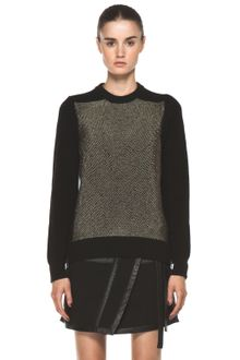 Proenza Schouler Crewneck Side Zip Sweater in Black - Lyst