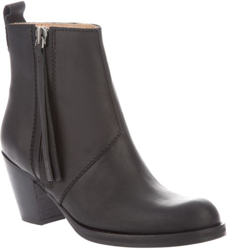 Acne Studios Pistol Short Boot in Black