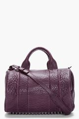 Alexander Wang Dark Purple Leather Rocco Studded Duffle Bag - Lyst